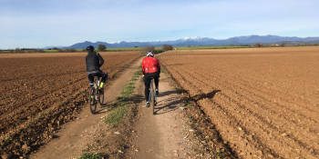 This bike holiday follows gravel tracks and paths through Catalonia